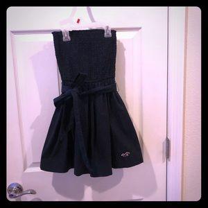 Hollister XS Navy strapless dress